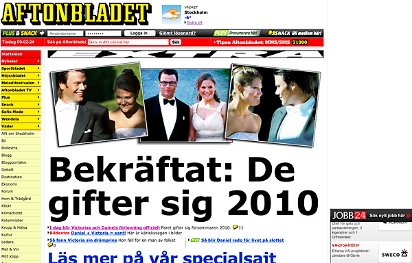 Aftonbladet.se nu på morgonen