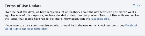 Facebooks tillbakadragande.