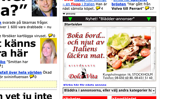 Blädderannonser på Aftonbladet.se